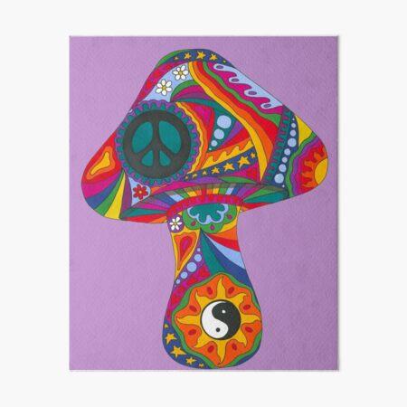 Psychedelic Mushroom Art Board Print