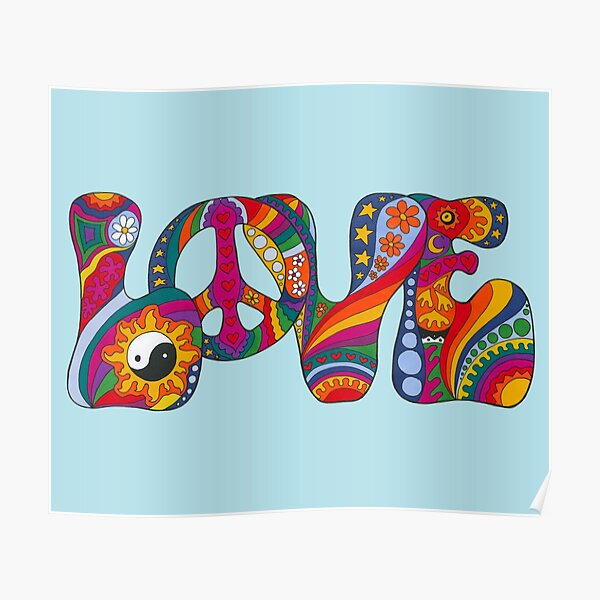 Psychedelic Love Poster