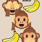 Monkey Bunch See No Evil, Hear No Evil, Speak No Evil Joypixels Emoji by sandyspider