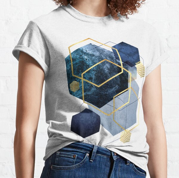 Navy and Gold Geo Classic T-Shirt