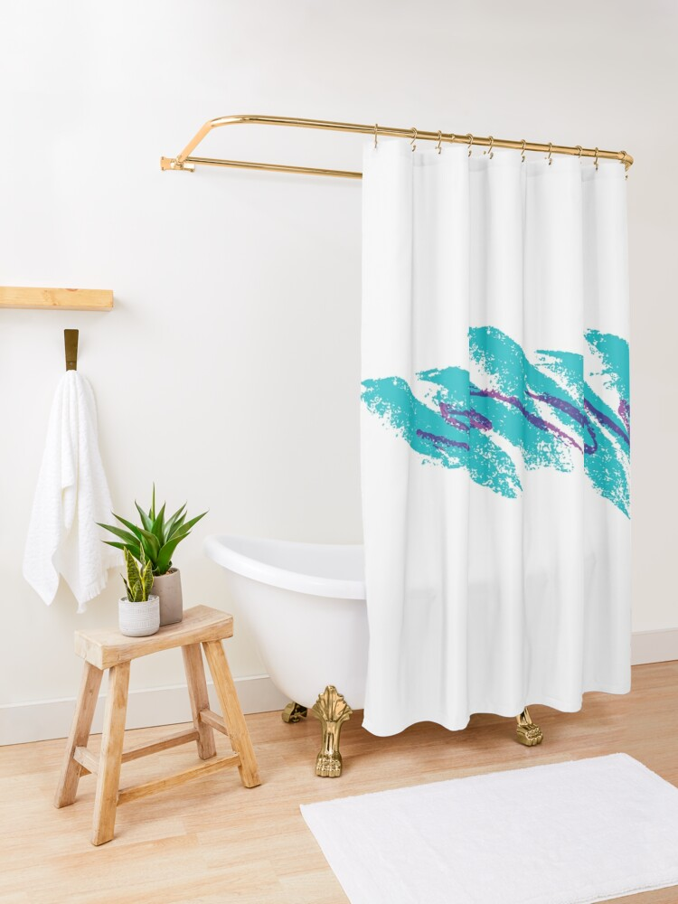 Alternate view of 90's Jazz Solo Cup Shower Curtain