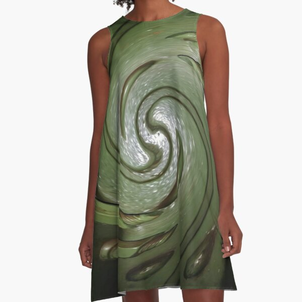Carving A-Line Dress