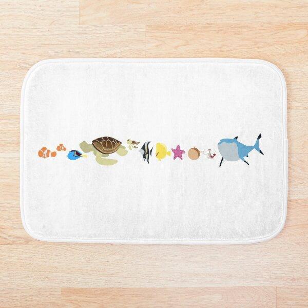 Finding Nemo Character Illustration  Bath Mat