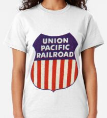 Spanning The Land. Union Pacific Railroad  Classic T-Shirt