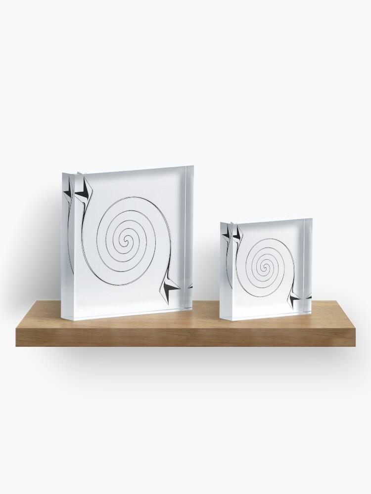 Alternate view of Line art,  Visual art genre Acrylic Block