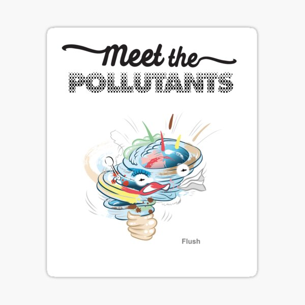 Meet the Pollutants: Personal Care Products Sticker