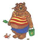 Silly Beach Bear by redqueenself
