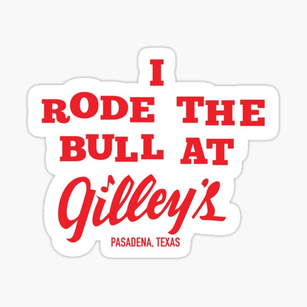 I RODE THE BULL Sticker