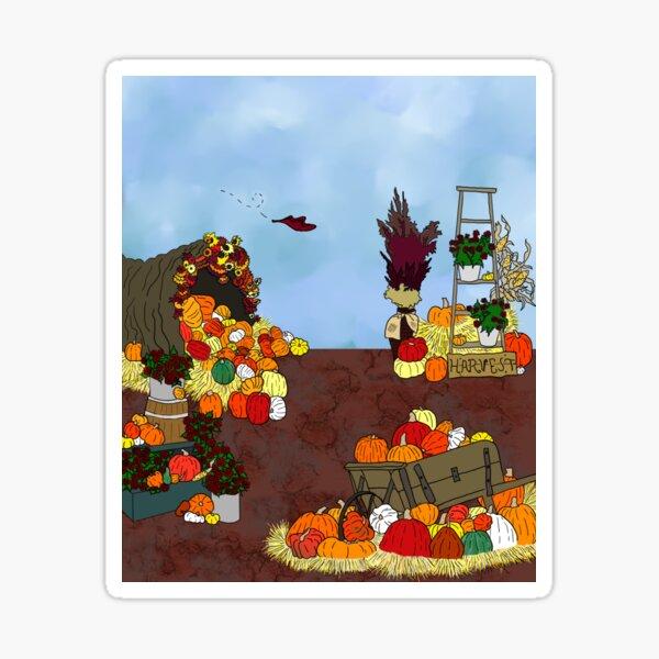 Pumpkin Patch Harvest- Peggy's Little Pumpkin Sticker