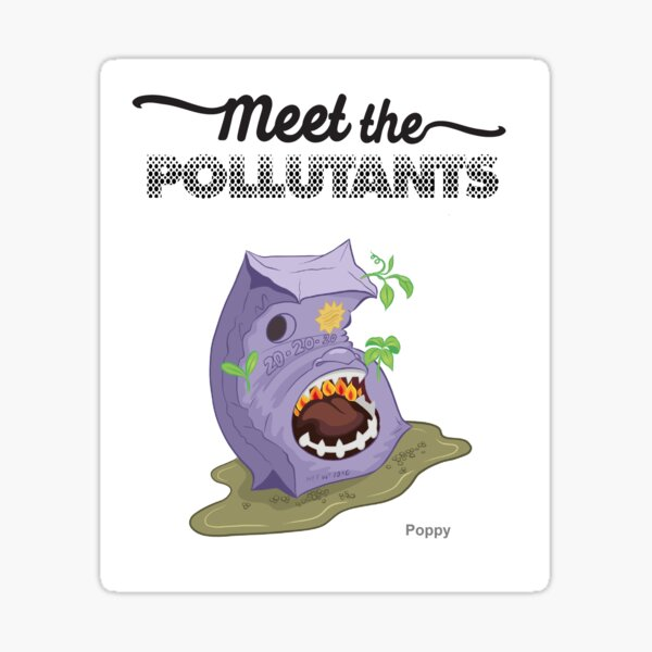 Meet the Pollutants: Persistent Organic Pollutants Sticker