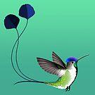 Marvellous Spatuletail Hummingbird by Tami Wicinas