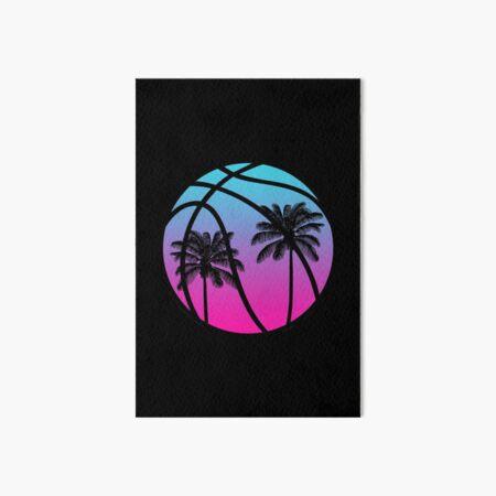 Miami Vice Basketball - Black Art Board Print