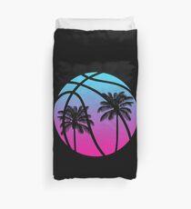 Miami Vice Basketball - Black Duvet Cover