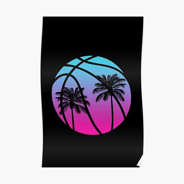 Miami Vice Basketball - Noir Poster