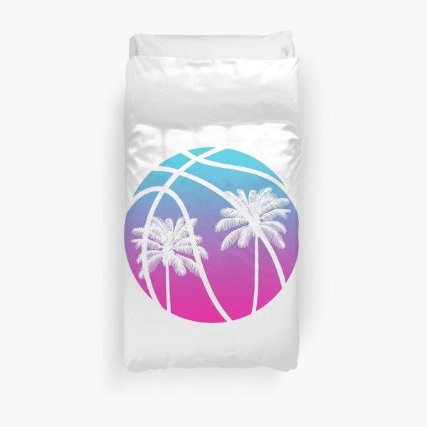 Miami Vice Basketball - White Duvet Cover