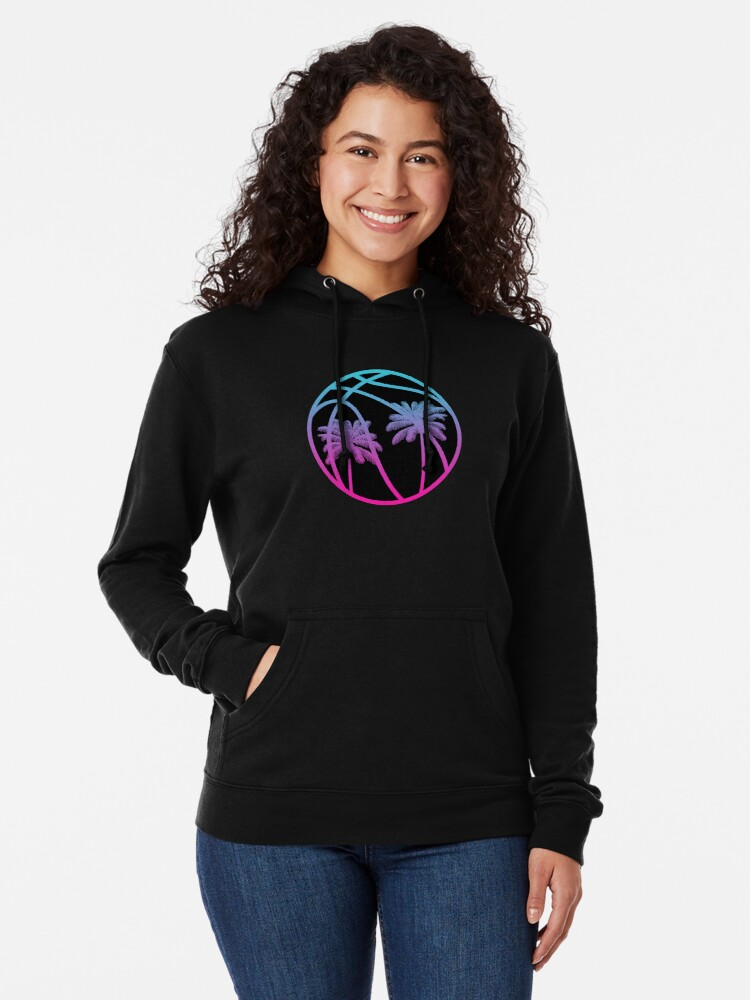 Alternate view of Miami Vice Basketball - Black alternate Lightweight Hoodie