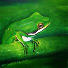Lavender, the tree frog by Annabelle Evelyn