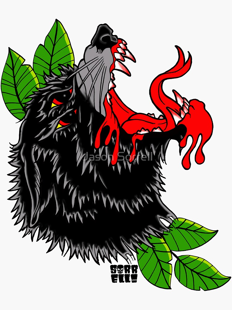 Demonic Wolf by jasonsorrell
