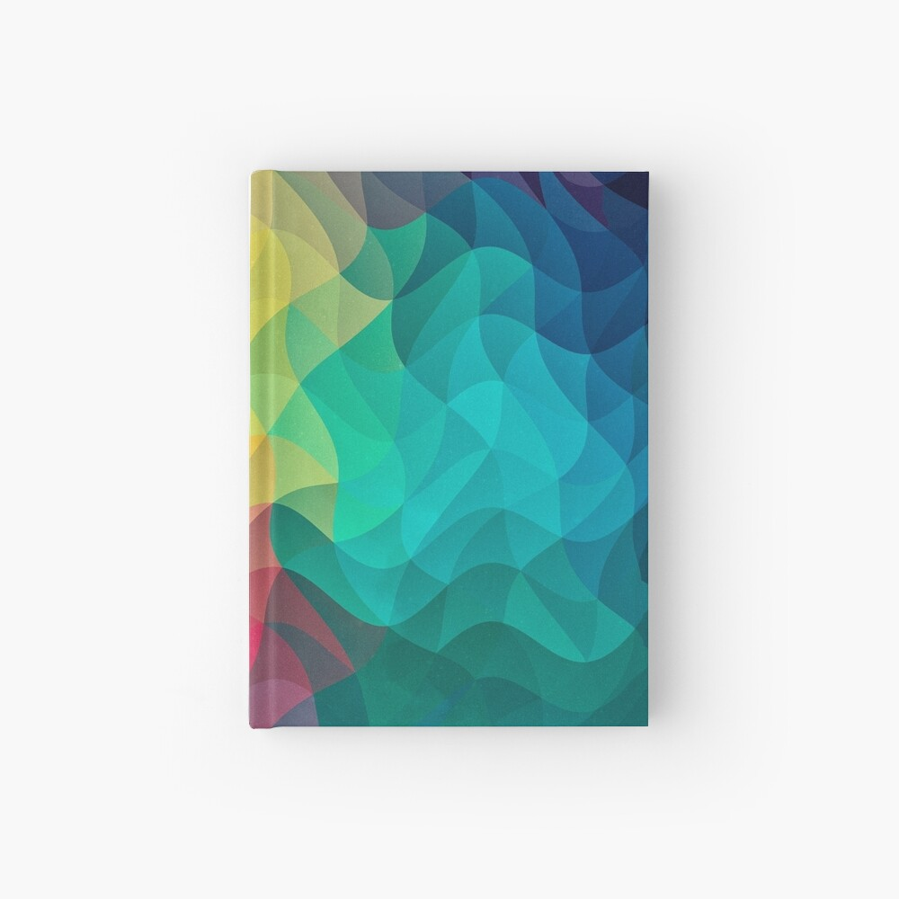 Abstract Color Wave Flash Notizbuch