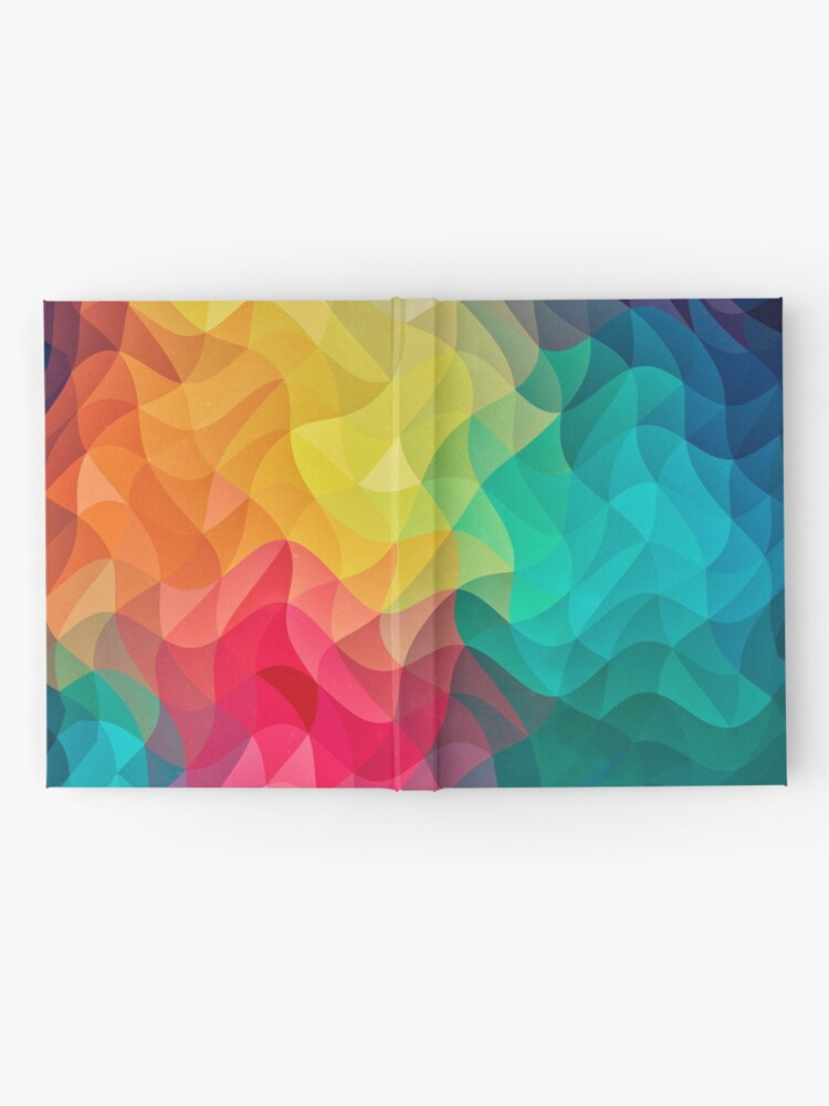 Alternative Ansicht von Abstract Color Wave Flash Notizbuch