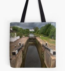 Wide Water Lock on the Grand Union Canal at Harefield Tote Bag