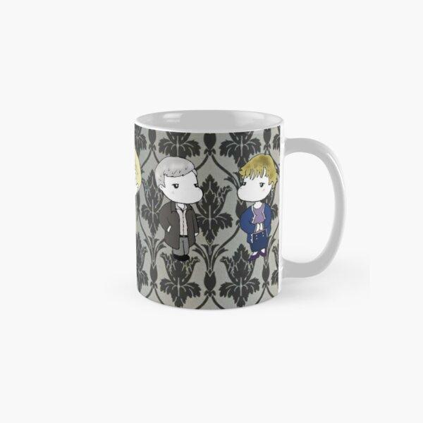 BBC Sherlock characters on 221B wallpaper Classic Mug