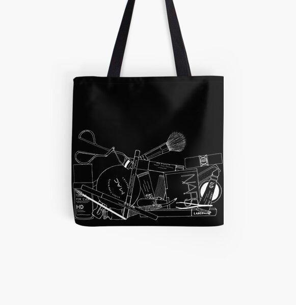 Make-up Tasche Innereien (schwarz) Allover-Print Tote Bag