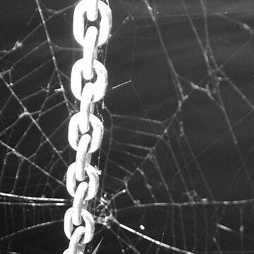 """""""Bondage"""" aka """"Chain of Custody"""" aka """"The Chains That Bind You"""" - Black & White by Badtgirl"""