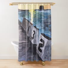 """Merewether Baths"" by Margo Humphries Shower Curtain"