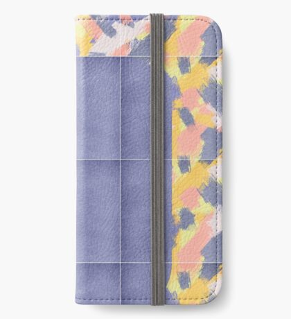 Messy Painted Tiles 02 #redbubble #midmod iPhone Wallet