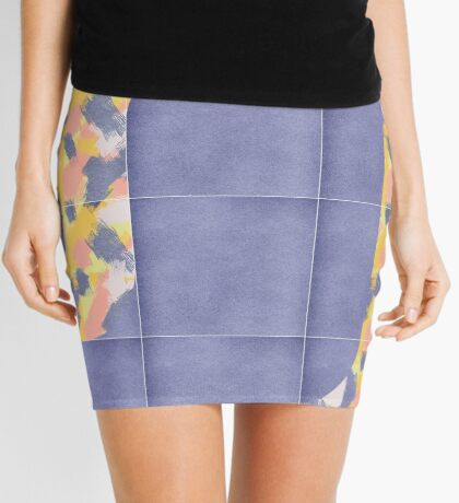Messy Painted Tiles 02 #redbubble #midmod Mini Skirt