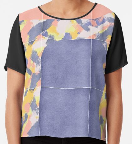 Messy Painted Tiles 02 #redbubble #midmod Chiffon Top
