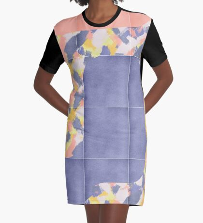 Messy Painted Tiles 02 #redbubble #midmod Graphic T-Shirt Dress