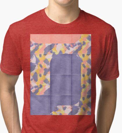 Messy Painted Tiles 02 #redbubble #midmod Tri-blend T-Shirt