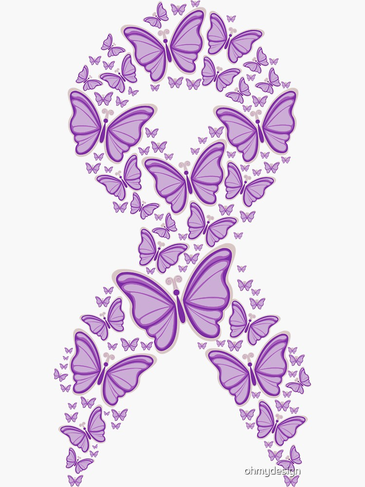 Purple Awareness Ribbon by ohmydesign