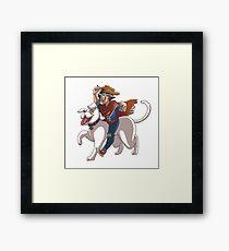 Super Cowboy Framed Print