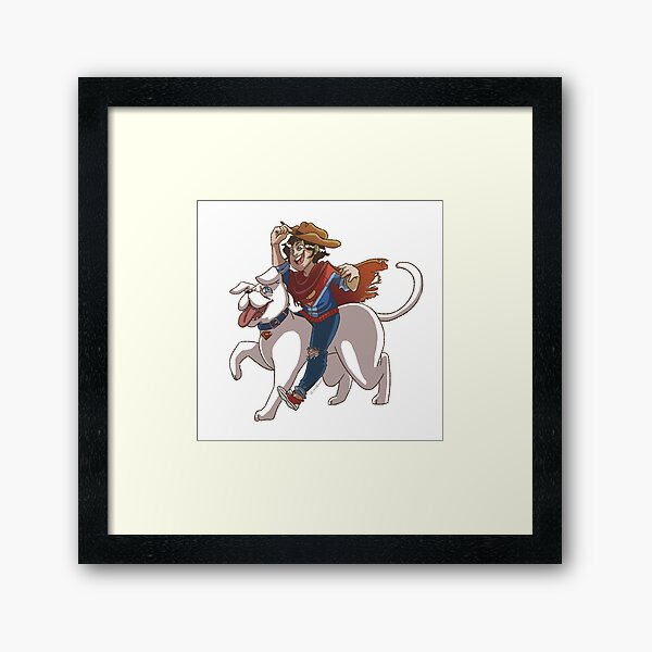 Super Cowboy Framed Art Print