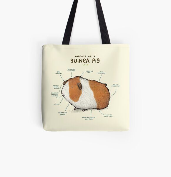 Anatomy of a Guinea Pig All Over Print Tote Bag