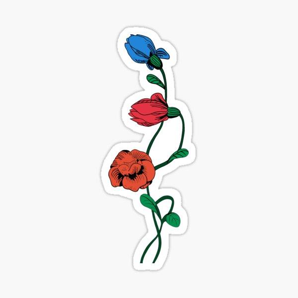 floral python Sticker