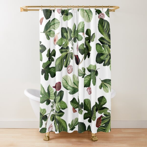 Figs white Shower Curtain