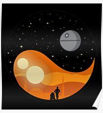 am größten ying yang Poster
