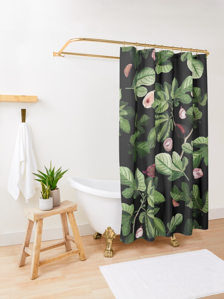 Alternate view of Figs Shower Curtain