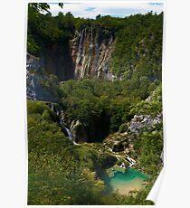 Waterfalls at Plitvice Lakes, Croatia Poster