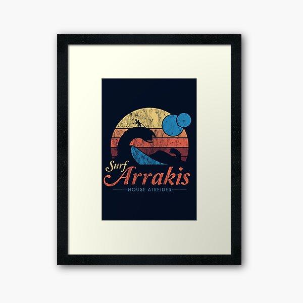 Besuchen Sie Arrakis - Vintage Distressed Surf - Dune - Sci Fi Gerahmter Kunstdruck