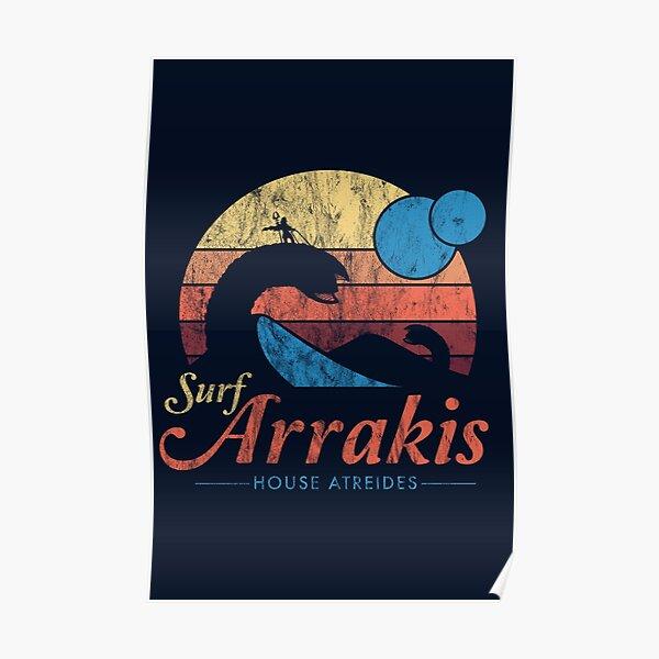 Visit Arrakis - Vintage Distressed Surf - Dune - Sci Fi Poster