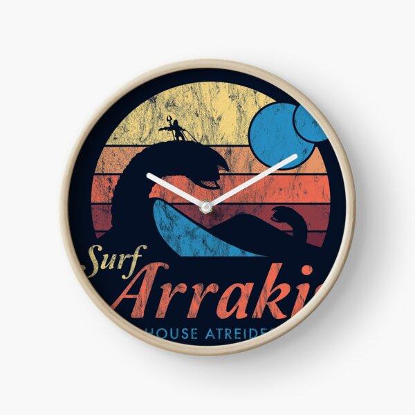 Visit Arrakis - Vintage Distressed Surf - Dune - Sci Fi Clock