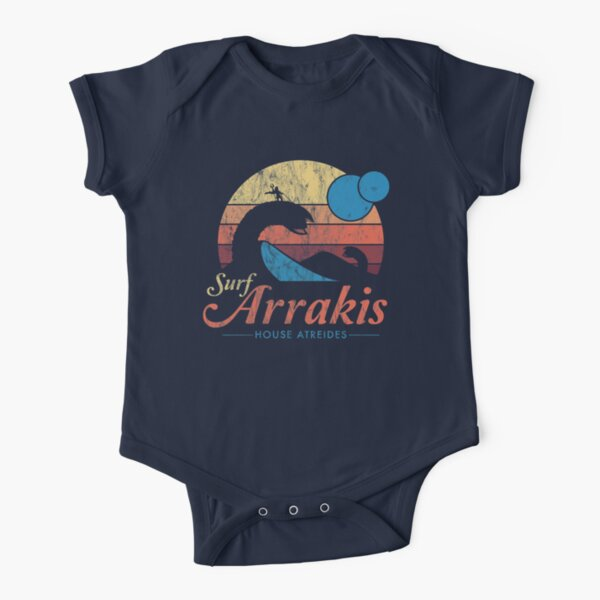 Visit Arrakis - Vintage Distressed Surf - Dune - Sci Fi Short Sleeve Baby One-Piece