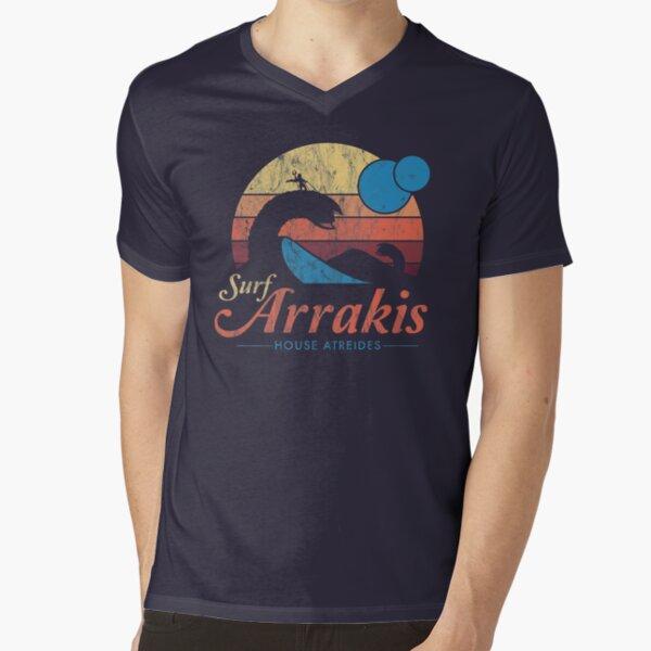 Visit Arrakis - Vintage Distressed Surf - Dune - Sci Fi V-Neck T-Shirt