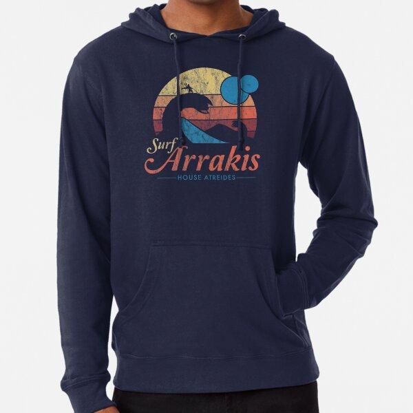 Visit Arrakis - Vintage Distressed Surf - Dune - Sci Fi Lightweight Hoodie