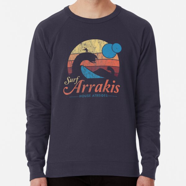 Visit Arrakis - Vintage Distressed Surf - Dune - Sci Fi Lightweight Sweatshirt